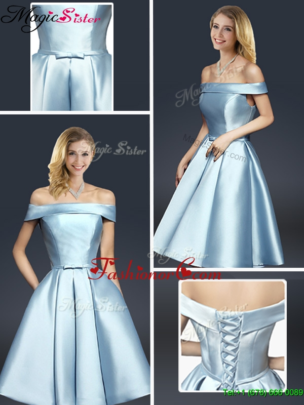 Fall A Line Knee Length Prom Dresses with Ruching YCPD015FOR