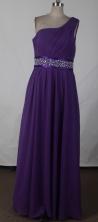 Affordable Empire One Shoulder Floor-length Prom Dress LHJ42805