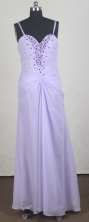 Affordable Empire Straps Floor-length lilac Prom Dress LHJ42867