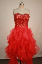 Beautiful A-line Sweetheart Knee-length Prom Dresses Sequins Style FA-Z-00151