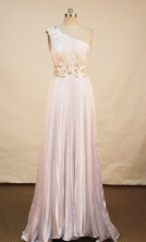 Beautiful Empire One Shoulder Neck Brush Pink Prom Dresses Appliques Style FA-Z-00167