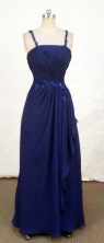 Beautiful Empire Strap Floor-length Chiffon Appliques With Beading Prom Dresses Style FA-C-232