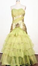 Beautiful Mermaid Sweetheart-neck Floor-length Olive Green Beading Prom Dresses Style FA-C-163