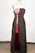 Brand New Column Strapless Mini-length Red Beading Prom Dresses Style FA-C-221