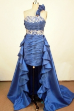 Brand New Short One-shoulder neck Mini-length Beading Prom Dresses Style FA-C-157