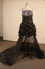Brand new Short Strapless Mini-length Black Beading Prom Dresses Style FA-C-172