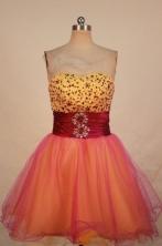 Cute Short Sweetheart-neck Mini-length Organza Beading Prom Dresses Style FA-C-135
