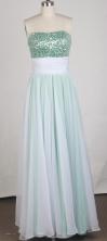 Elegant Empire Strapless Chiffion Floor-length Prom Dress LHJ42835