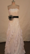 Elegnat Column Strapless Floor-length Light Pink Apppliques With Beading Prom Dresses Style FA-C-191
