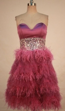 Exquisite A-line Sweetheart-neck Knee-length Beading Prom Dresses Style FA-C-138