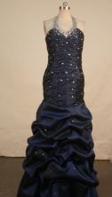 Gorgeous Mermaid Halter Top Floor-length Prom Dresses Style FA-Z-00172