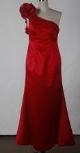 Popular Column One Shoulder Floor-length Red Prom Dress LHJ42821