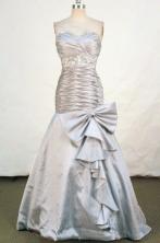 Popular Mermaid Sweetheart-neck Floor-length Gray Beading Prom Dresses Style FA-C-195