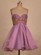 Prefect A-line Sweetheart-neck Mini-length Lavender Appliques Prom Dresses Style FA-C-181