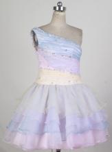 Sweet Short One Shoulder Mini-length Prom Dress LHJ42863