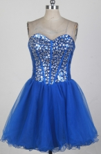Sweet Short Sweetheart Mini-length Royal Blue Prom Dress LHJ428
