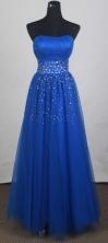 Unique Empire Strapless Floor-Length Prom Dresses WlX426116
