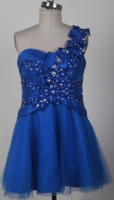 2012 Affordable A-line One Shoulder Neck Mini-Length Quinceanera Dresses Style WlX426139