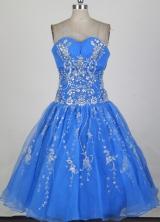 Cheap Short Sweetheart Mini-length Aqua Quinceanera Dress LHJ42833