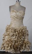 Perfect Short Sweetheart Mini-length Champange Quinceanera Dress LHJ42804