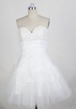 Pretty Short Sweetheart Mini-length White Quinceanera Dress LHJ42872