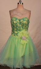 Romantic Short Sweetheart-neck Mini-length Beading Quinceanera Dresses Style FA-C-131