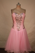 Sweet A-line Sweetheart-neck Mini-length Beading Short Quinceanera Dresses Style FA-C-132