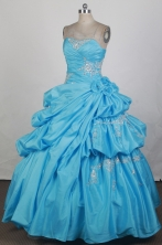 2012 Exquisite Ball Gown Strapless Floor-Length Vintage Quinceanera Dresses Style JP42665