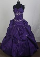 2012 New Ball Gown Halter Top Floor-Length Vintage Quinceanera Dresses Style JP42658