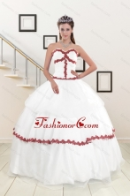 2015  Sweetheart Ball Gown Quinceanera Dresses with Appliques XFNAO676FOR