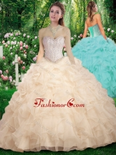 2016 Vintage Sweetheart Champange Sweet 16 Dresses with Beading SJQDDT289002FOR