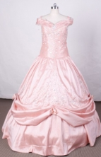 Affordable Ball Gown Off The Shoulder Neckline Floor-Length Quinceanera Dresses Style FA-S-179