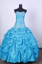Affordable Ball Gown Strapless FLoor-Length Quinceanera Dresses L42452