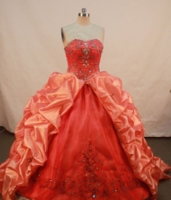 Affordable Ball gown Sweetheart Floor-length Vintage Quinceanera Dresses Appliques with Beading Y042440