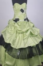 Beautful Ball Gown Sweetheart Neck Floor-length Yellow Green Vintage Quinceanera Dress LZ426063
