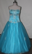 Beautiful A-line Sweetheart Floor-length Quinceanera Dresses Appliques with Beading Style FA-Z-0034