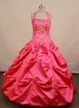 Beautiful Ball gown Halter topFloor-length Quinceanera Dresses TD2409