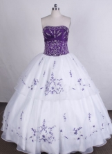 Beautiful Ball gown Strapless Floor-length Vintage Quinceanera Dresses LZ42402