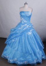 Beautiful Ball gown StraplessFloor-length Quinceanera Dresses Appliques Style FA-Z-0047