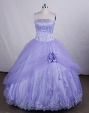 Beautiful Ball gown StraplessFloor-length Vintage Quinceanera Dresses Appliques Style FA-Z-0037