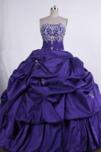 Beautiful Ball gown Sweetheart Floor-Length Blue Quinceanera Dresses Style FA-Y-14