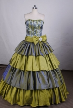 Beautiful Ball gown Sweetheart Floor-length Quinceanera Dresses TD2412