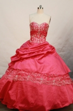 Beautiful Ball gown Sweetheart-neck Floor-length Taffeta Quinceanera Dresses Style FA-W-073