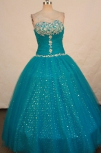 Beautiful Ball gown Sweetheart-neck Floor-length Vintage Quinceanera Dresses Style FA-W-306