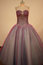 Beautiful Ball gown Sweetheart-neck Floor-length Vintage Quinceanera Dresses Style FA-W-325
