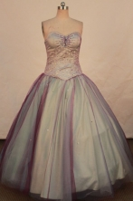 Beautiful Ball gown Sweetheart-neck Floor-length Vintage Quinceanera Dresses Style FA-W-326