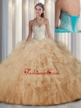 Beautiful Sweetheart Quinceanera Dresses with Beading and Ruffles for Fall SJQDDT300002FOR