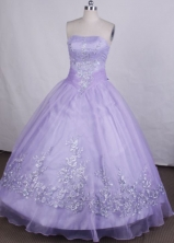 Best Ball Gown Strapless Loor-Length Lilac Vintage Quinceanera Dresses Style FA-S-010