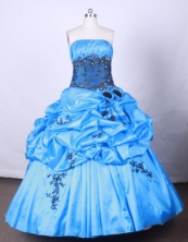Brand New Ball Gown Strapless FLoor-Length Vintage Quinceanera Dress LZ42447