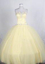 Brand New Ball gown Strapless Floor-length Quinceanera Dresses Style FA-W-r75